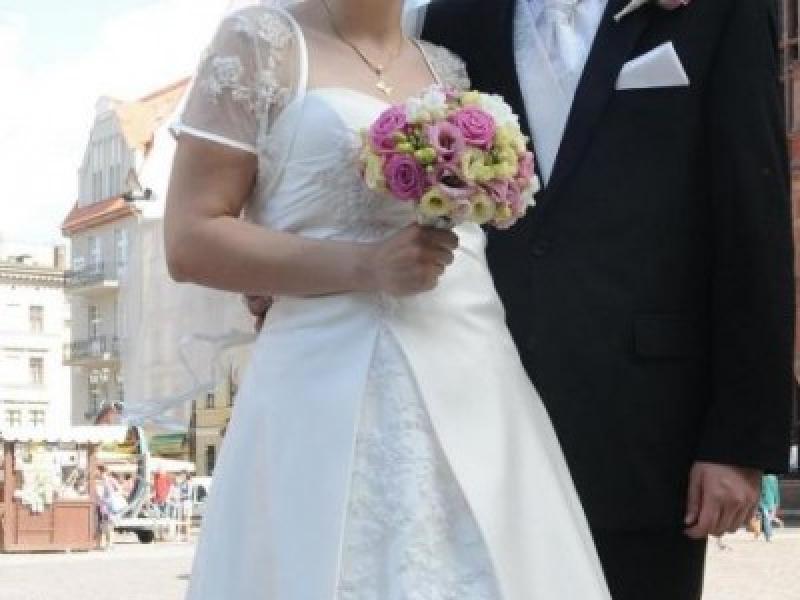 Suknia ślubna Brazylijka Ecru Rozmiar 40 42 Toruń Gdańsk Suknie
