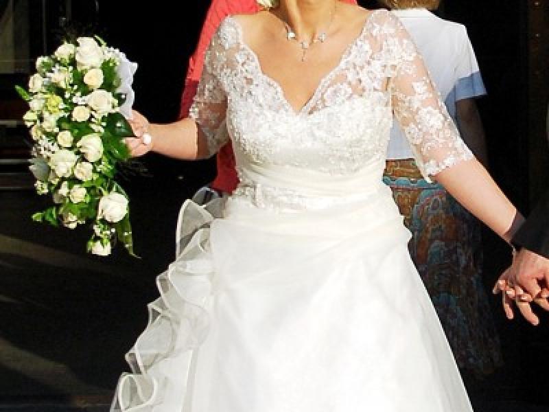 Suknia ślubna Z Koronkowym Rękawem 34 Suknie ślubne Ogłoszenie