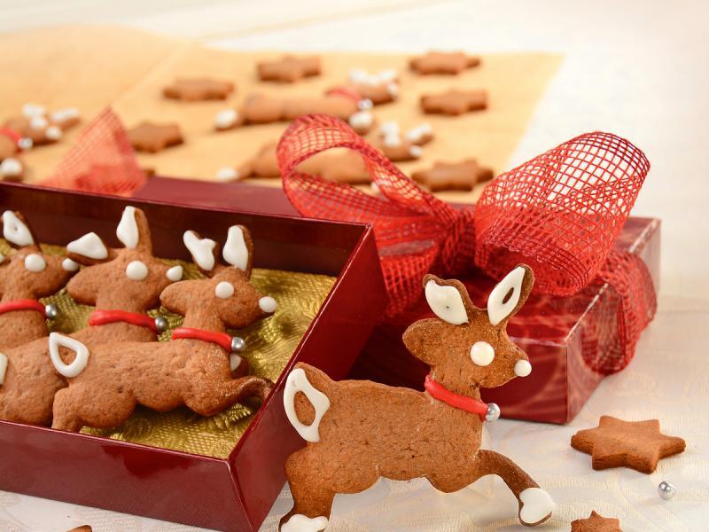Świąteczne ciasteczka-reniferki