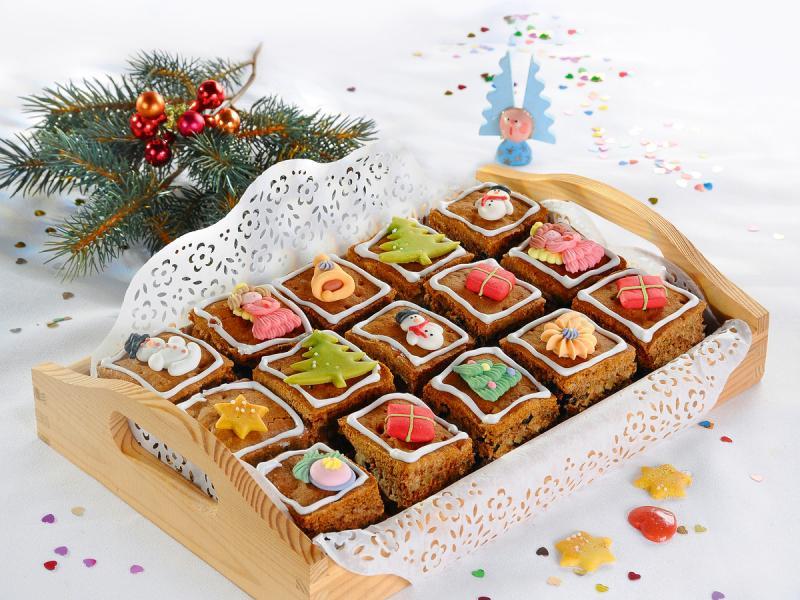 Świąteczne ciasto: bakaliowa kostka