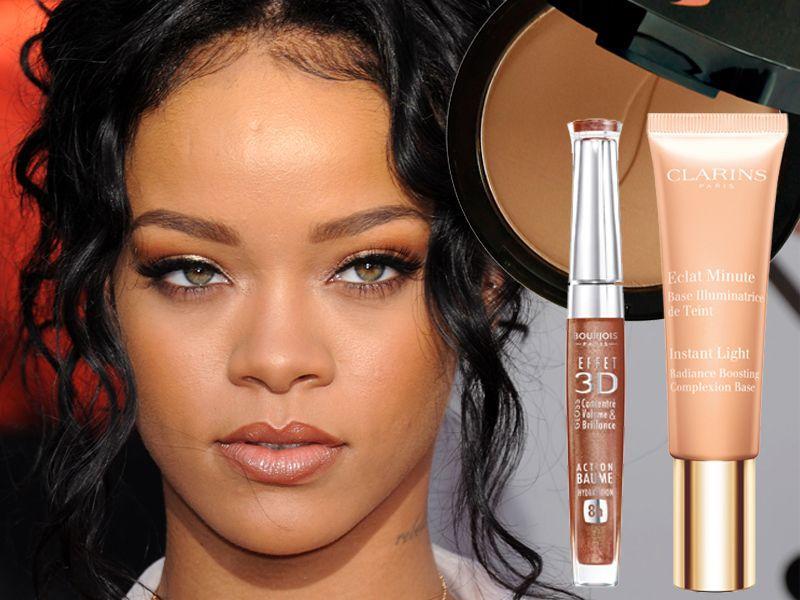 Świetlisty makijaż Rihanny krok po kroku