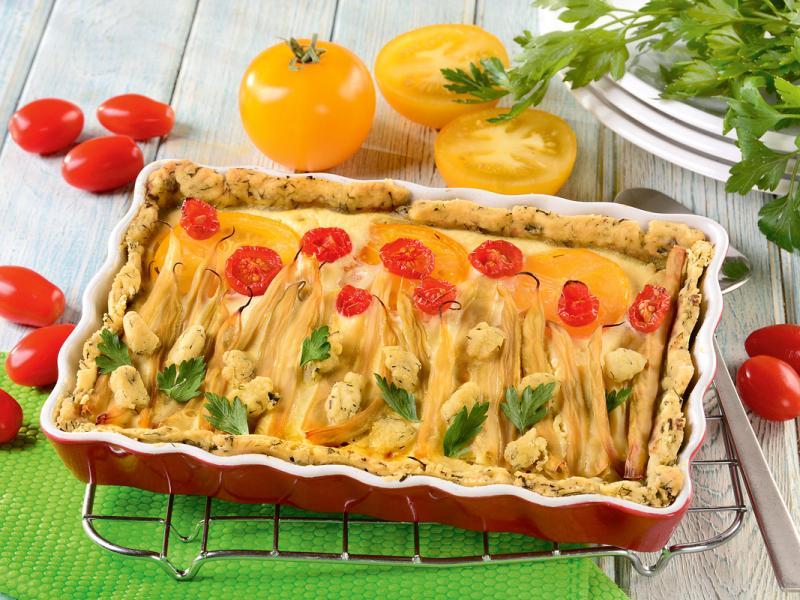 Tarta z fasolką szparagową
