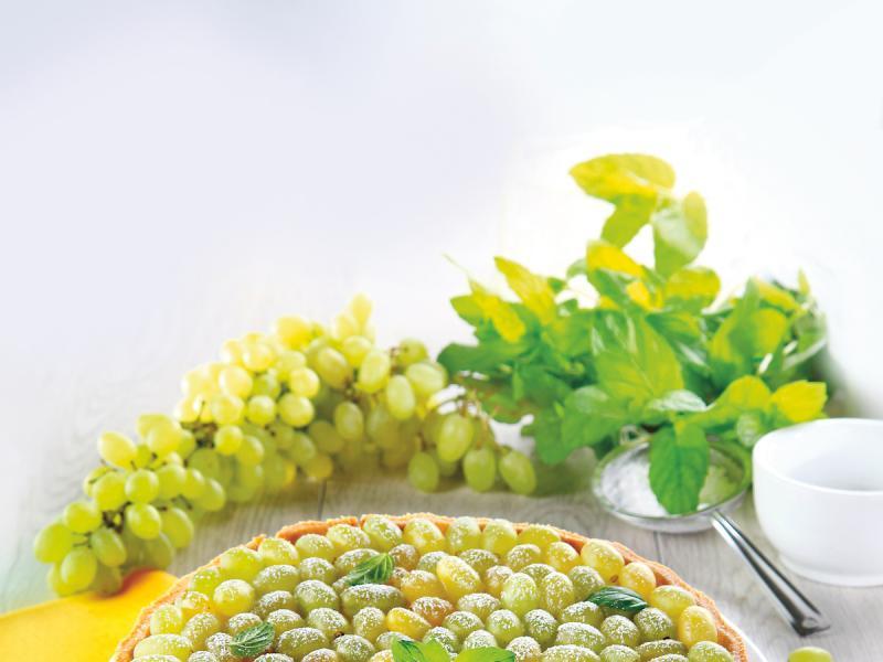 Torcik z winogronami