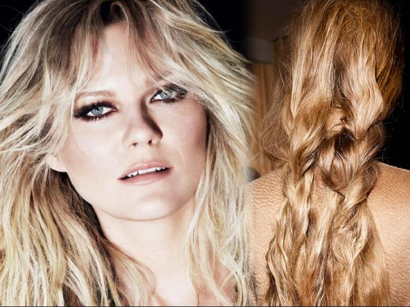 Kirsten Dunst, Wild Stylers, włosy out of bed, fale