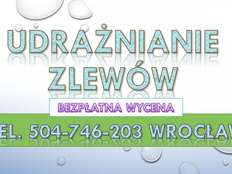 Inne rodzaje Udrażnianie rur Wrocław, cena tel, 504-746-203, spiralą ZD28