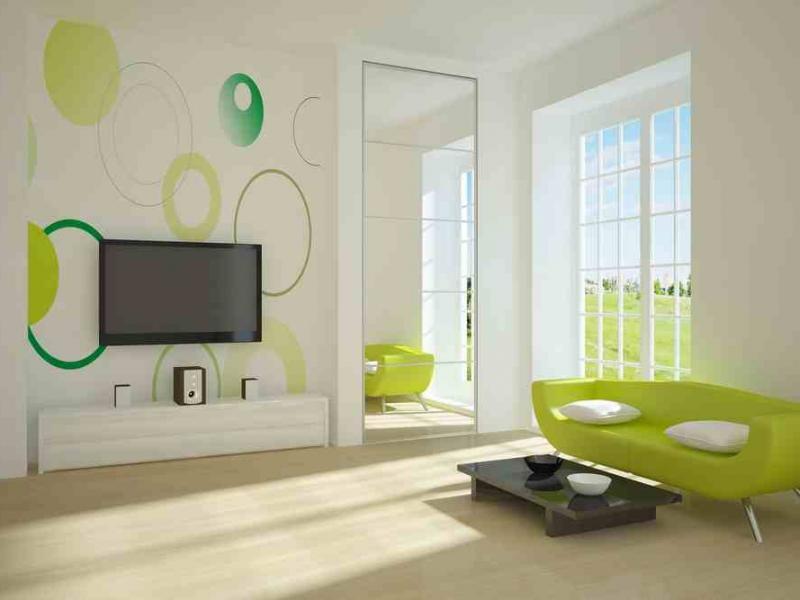 Wandfarbe turkis wohnzimmer