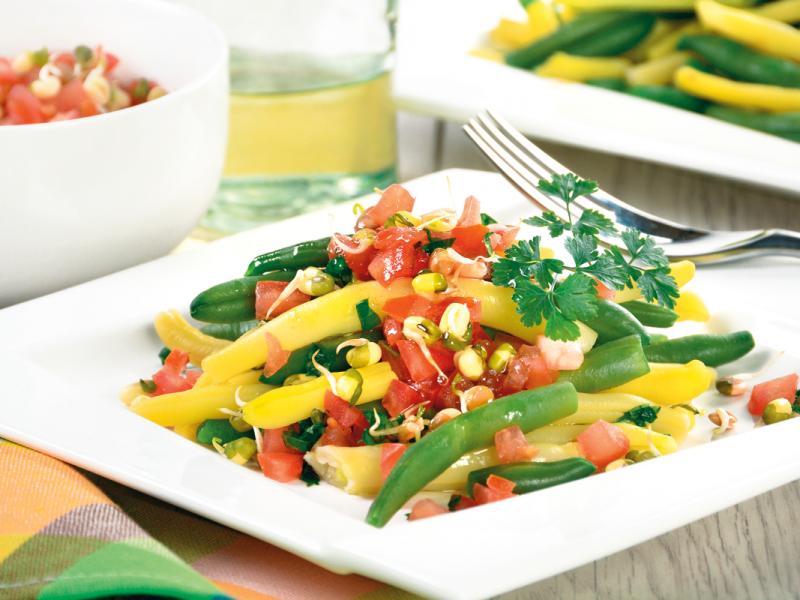 Wegetariańska sałatka z fasolki szparagowej