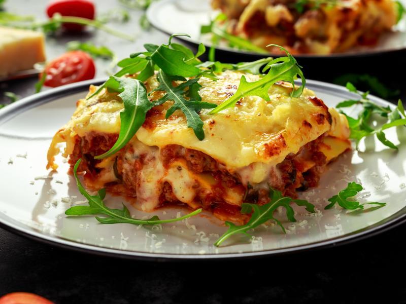 Wloska Lasagne Z Miesem Mielonym