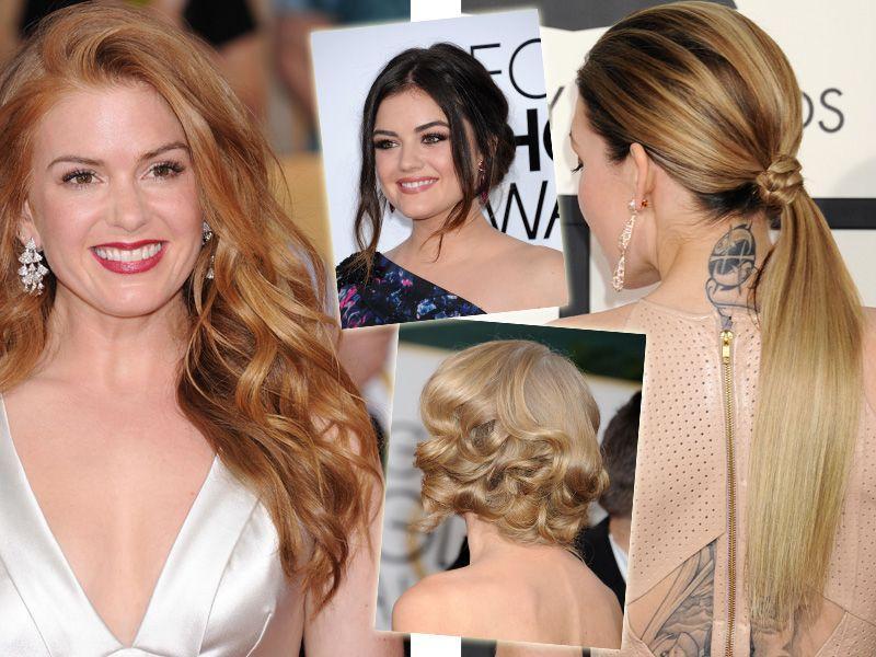 Wprost z czerwonych dywanów: pomysł na fryzurę z długich włosów