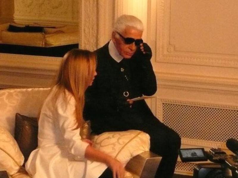 Wywiad z Karlem Lagerfeldem (video)