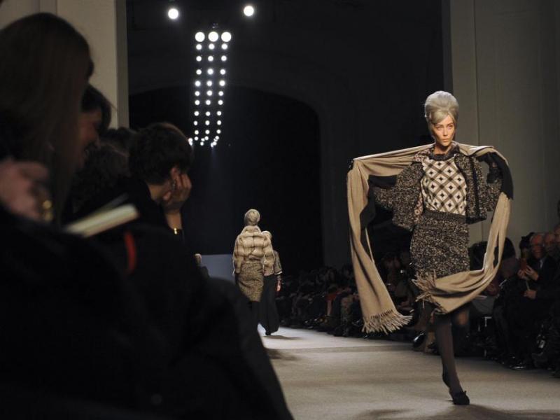 Zderzenie modelek na wybiegu Gaultier