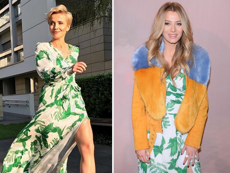 Zielińska i Zawadzka w identycznej sukience. Która wyglądała lepiej? [SONDA]