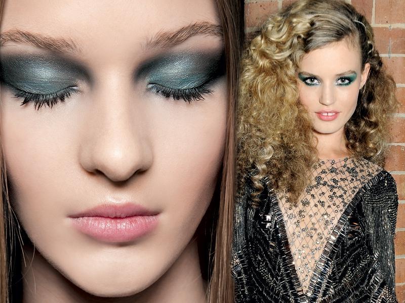 Zielony makijaż na święta