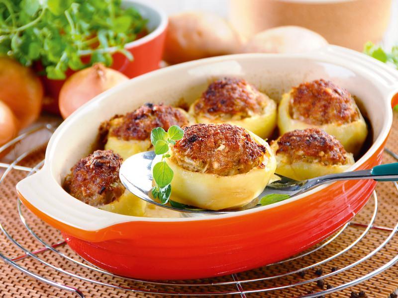 Ziemniaki faszerowane mięsem