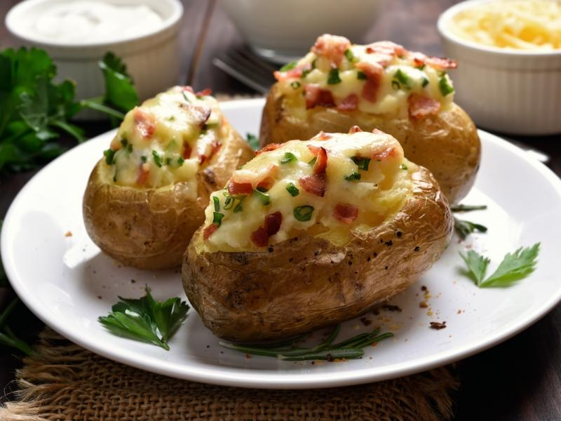 Ziemniaki Faszerowane Szpinakiem Przepis Składniki I Przygotowanie