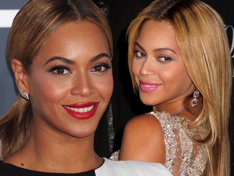 Zoom na makijaż Beyonce