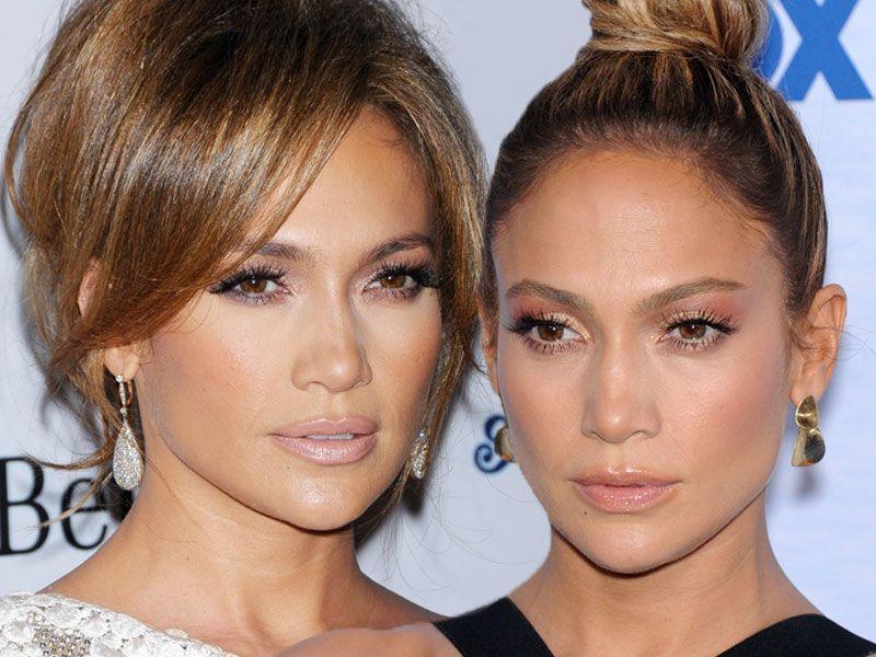 Zoom na makijaż Jennifer Lopez