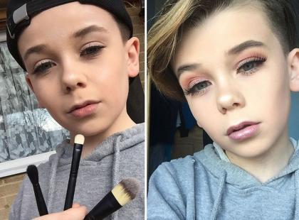 10-letni chłopiec pokazuje, jak się powinno robić makijaż. I robi to lepie niż niejedna kobieta!