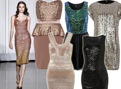 15 błyszczących sukienek na Sylwestra 2012/2013