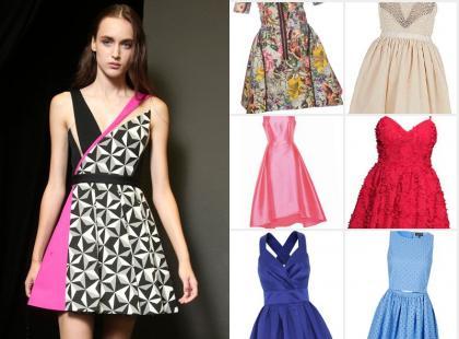 17 modnych sukienek rozkloszowanych na wiosnę