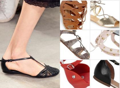 17 par najmodniejszych płaskich sandałów na wiosnę i lato
