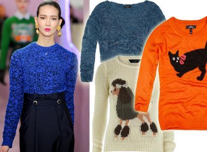 20 najmodniejszych sweterków na jesień 2012