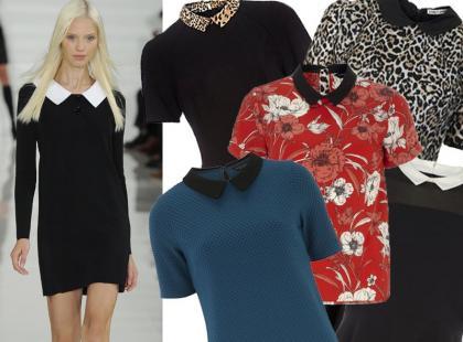 20 sukienek i bluzek z ozdobnymi kołnierzykami