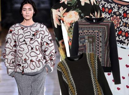20 wzorzystych sweterków na przełom sezonów