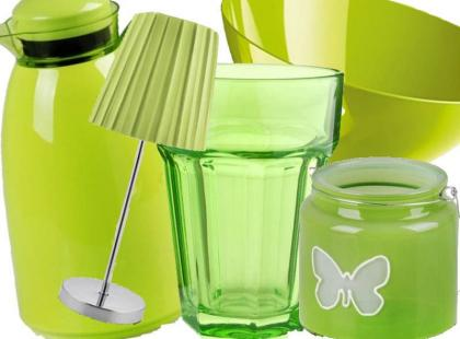 21 dodatków do mieszkania w kolorze soczystej trawy
