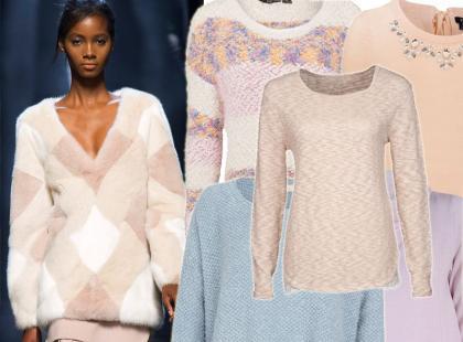 22 pastelowe swetry na jesienne i zimowe dni