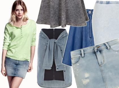 25 najciekawszych spódnic z dżinsu