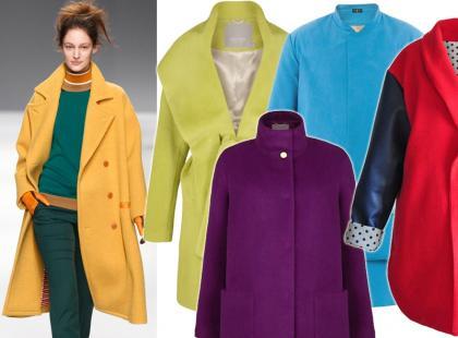 25 płaszczyków w energetycznych kolorach