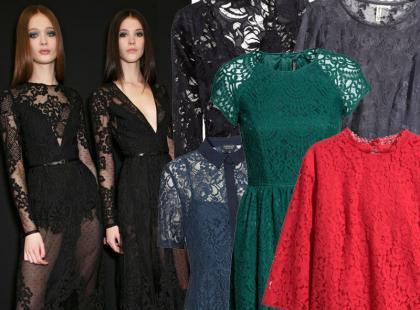 27 koronkowych ubrań z jesiennych kolekcji