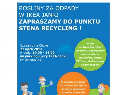 27 lipca IKEA Janki – Stena Recykling zaprasza do zbiórki