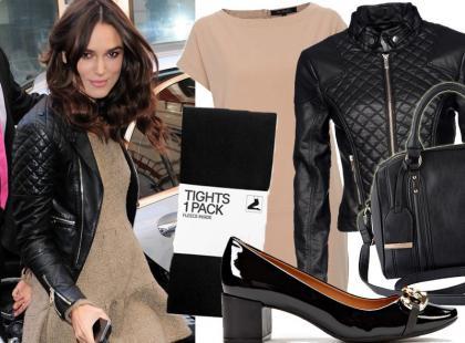 29-letnia Keira Knightley w modnej i prostej stylizacji