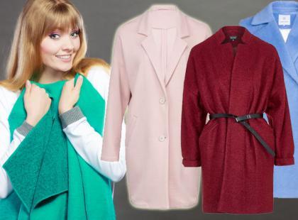 3 stylizacje z kolorowym płaszczem