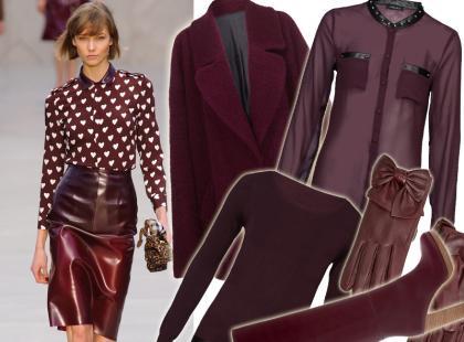 30 najładniejszych ubrań i dodatków w odcieniach wina