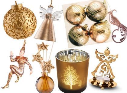 32 złote dodatki i ozdoby na święta