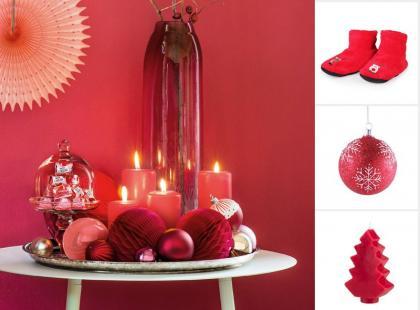 35 najpiękniejszych czerwonych dodatków na święta