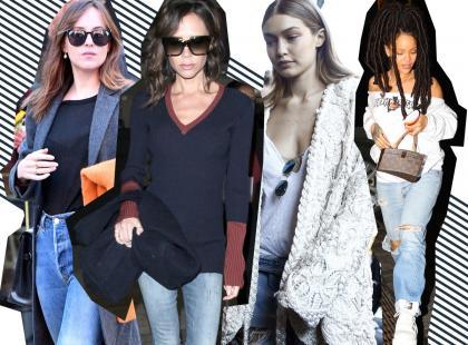 4 gwiazdy i 4 modne looki z dżinsami. Jak nosić je jesienią?