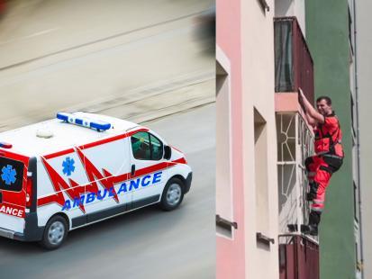 4-latka wezwała pomoc do umierającego człowieka. Lekarz pogotowia wspiął się po balkonie, żeby go uratować