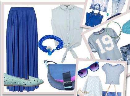 4 pomysły na stylizację: niebieskie lato 2013