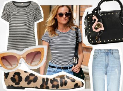 40-letnia Diane Kruger w stylowym zestawie na koniec lata