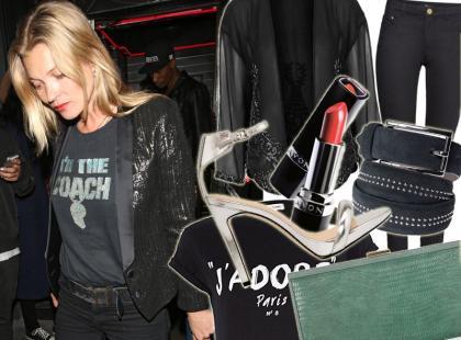 """40-letnia Kate Moss w stylu """"casual chic"""""""