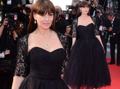 50-letnia Monica Bellucci prawdziwą ozdobą czerwonego dywanu w Cannes