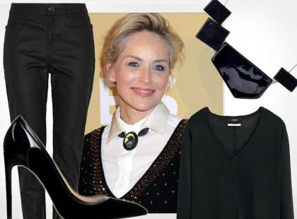 57-letnia Sharon Stone: łatwy, stylowy i niedrogi look