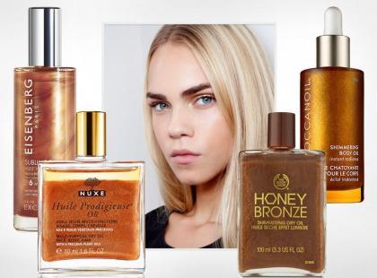 7 genialnych olejków z drobinkami do ciała i włosów