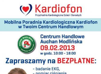 9 lutego 2013 roku w Warszawie – bezpłatne badania w ramach akcji Przychodni Kardiofon