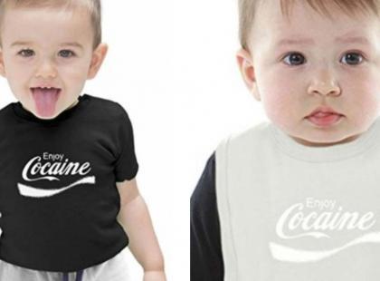 """Afera na Amazonie. Sklep sprzedawał koszulki dla dzieci z napisem """"Enjoy Cocaine"""""""