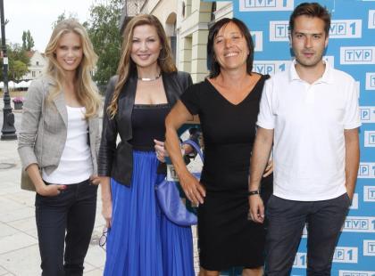 """Aktorzy na konferencji prasowej serialu """"Blondynka"""""""